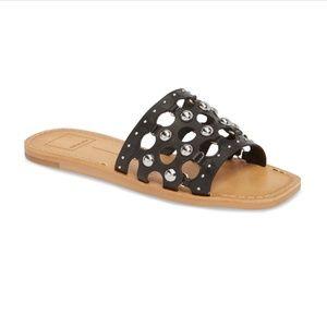Dolce Vita Celita Perforated Studded Slide Sandals